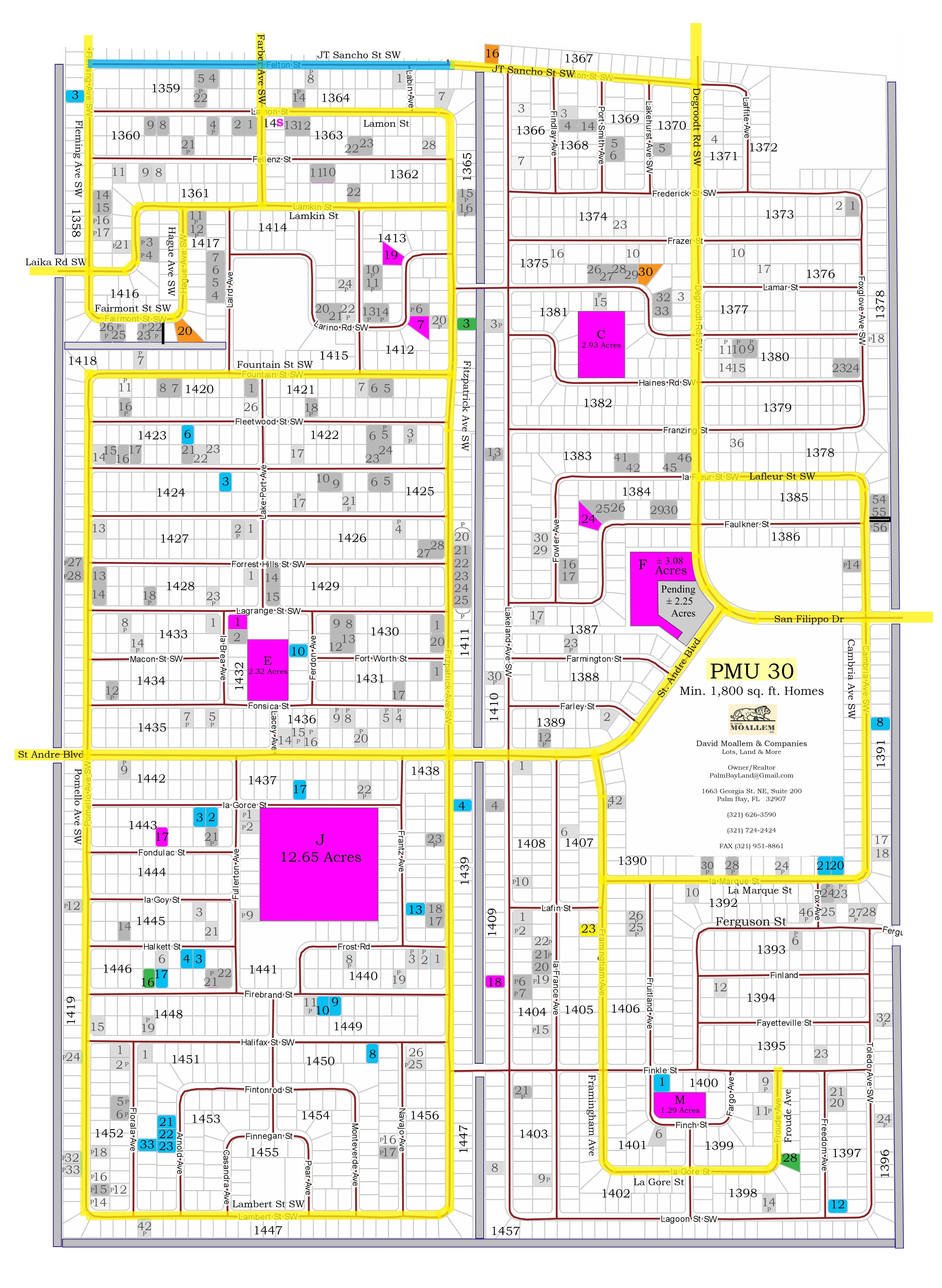 M  David Moallem Inc  - Palm Bay Florida Lots and Land